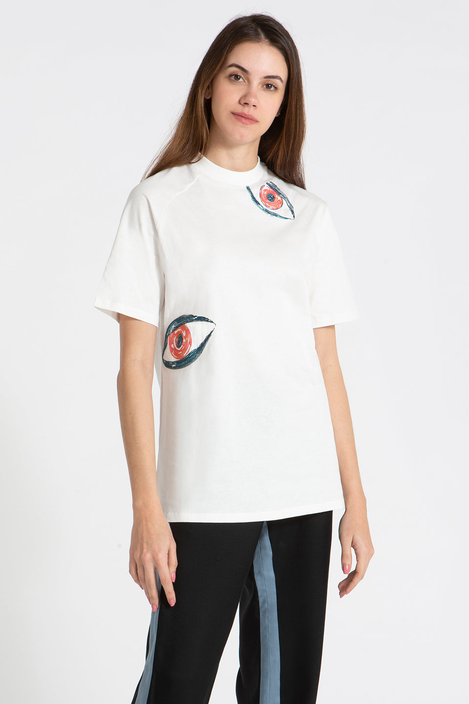 Slash t-shirt white Lesyeux Embroidery