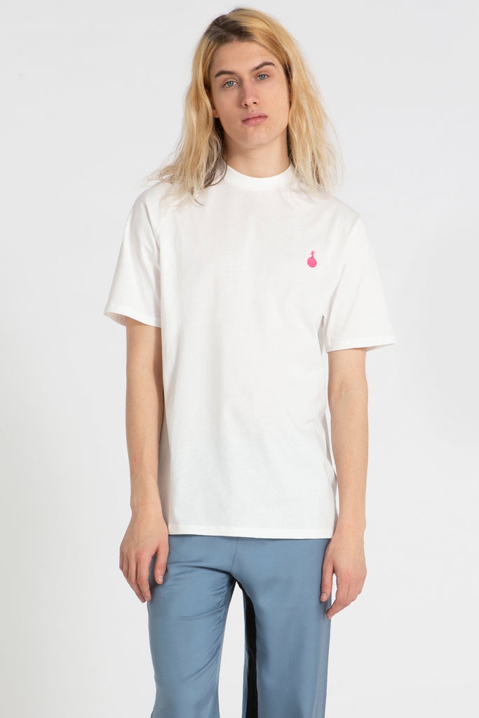 Slash t shirt white with pink Martian