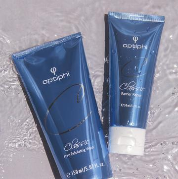 Optiphi Barrier Repair & Pure Exfoliating Wash Combo