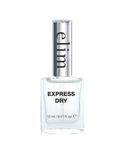 "Load image into Gallery viewer, Elim Express Dry is a ""double-duty"" top coat which protects your nail polish while speeding up the drying process."