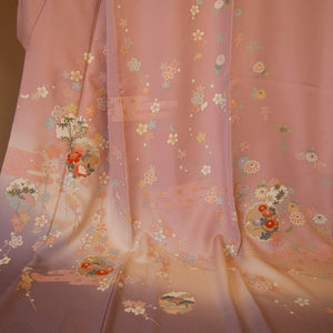 MTO Kimono Dress Mini -Peachy-