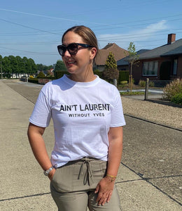 Witte t-shirt Ain't Laurent