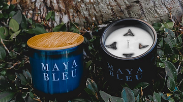 A New Look, MAYA BLEU's Original Shark Tooth Candle, BLEU & BLCK.