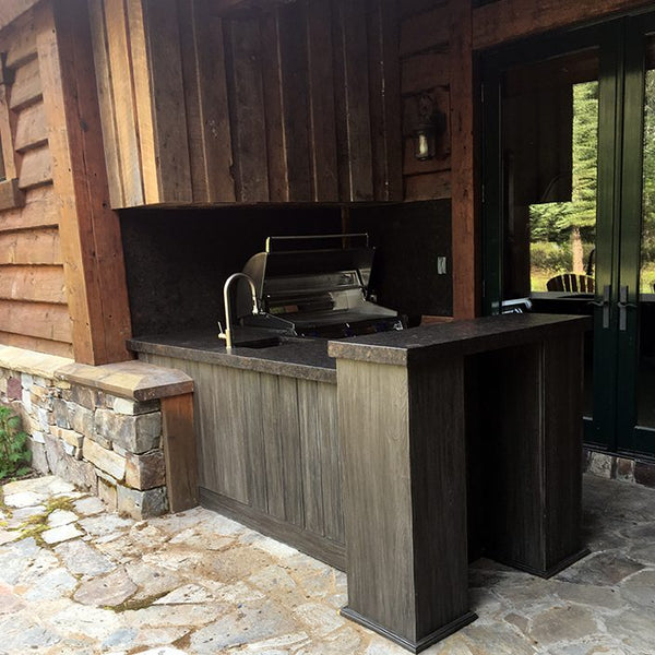 Outdoor Kitchen Example Finished Project from Solution for Spaces featuring NatureKast Outdoor Cabinetry, FireMagic