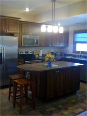 Beautiful indoor kitchen design project example by Solution for Spaces, Kalispell Montana