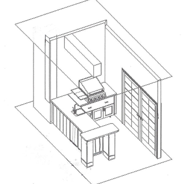 Outdoor Kitchen Example Blueprint from Solution for Spaces