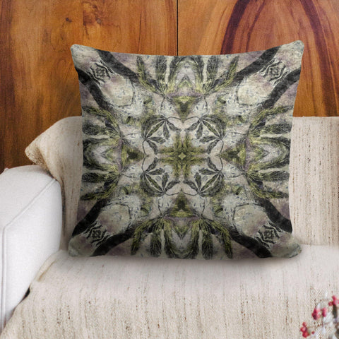 Hornbill Arabesque Velvet Cushion - The Patternologist