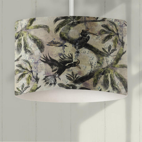 Hornbill Bird Drum Lampshade - The Patternologist