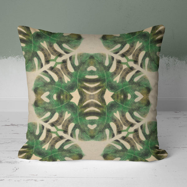 Geometric Cairo Jungle Leaf Cushion - The Patternologist