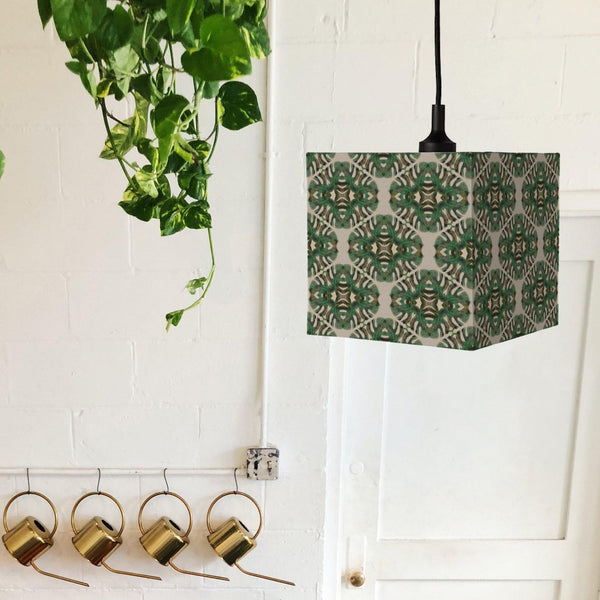 Geometric Cairo Leaf Square Lampshade - The Patternologist