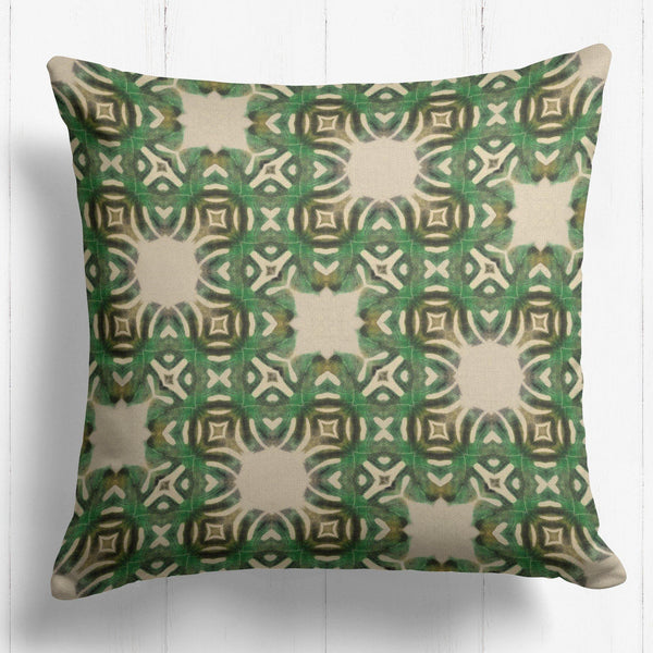 Geometric Leaf Cushion - The Patternologist