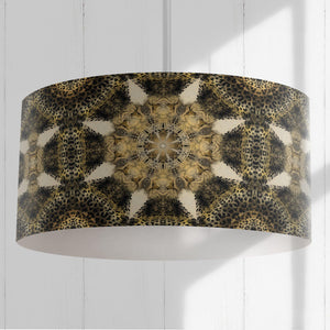 Jaguar Geometric Pattern Drum Lampshade - The Patternologist