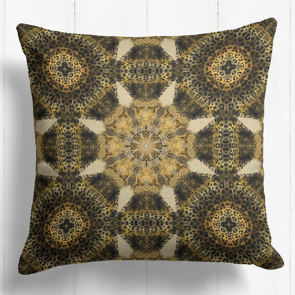 Jaguar Geometric Pattern Cushion - The Patternologist