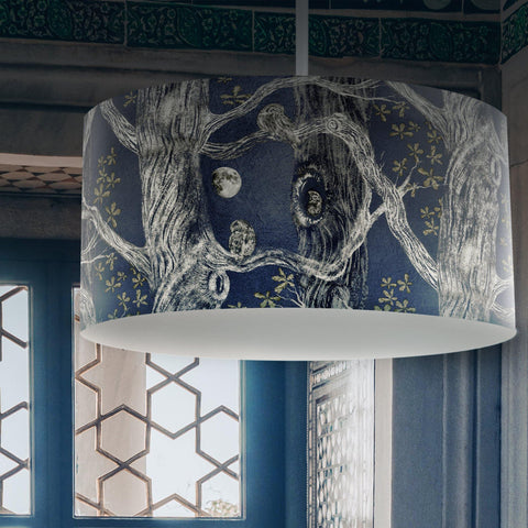Little Owl Drum Lampshade - The Patternologist