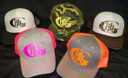 GENERATION HIP HOP TRUCKER HAT. HIP HOP CLOTHING, HIP HOP ACCESSORIES. BLACK AND WHITE TRUCKER HAT, CAMOUFLAGE TRUCKER HAT, BROWN AND WHITE TRUCKER HAT, GREY AND PINK TRUCKER HAT, ORANGE AND GREY TRUCKER HAT.