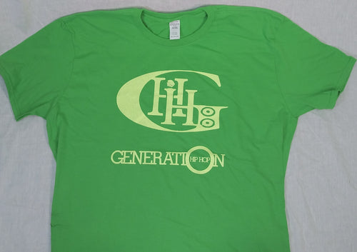 GENERATION HIP HOP MENS SHIMMER LIME GHH SQUARED TEE. GREEN TEE, LIME TEE, HIP HOP CLOTHING, HIP HOP APPAREL, HIP HOP CLOTHING, SHIMMER TEE, LIME SHIMMER,