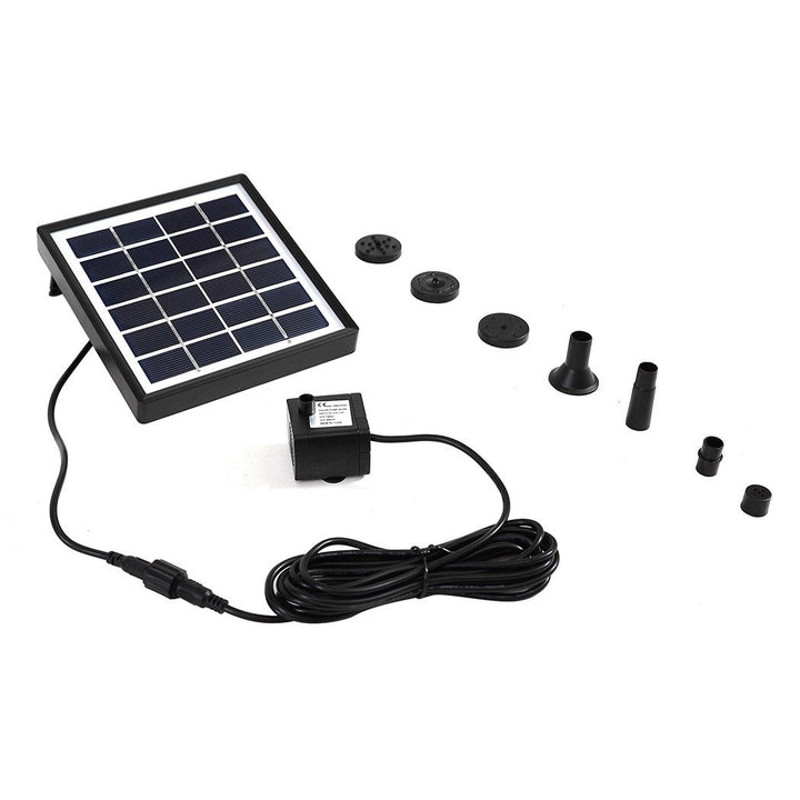 Solar Fountain Water Pump Kit Pond Pool Submersible Outdoor Garden 1.5W - OZ Discount Store