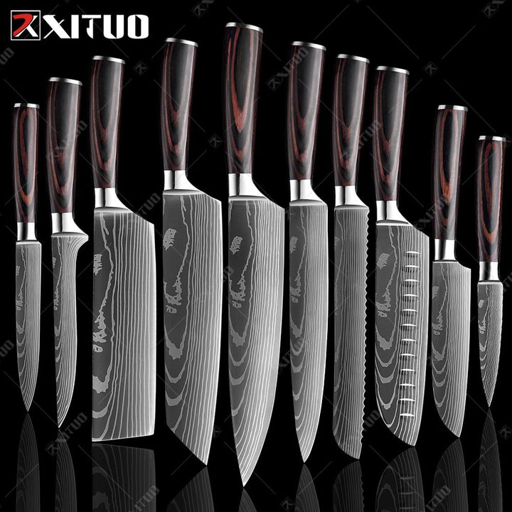 Japanese Damascus Patterned Chef Knife - OZ Discount Store