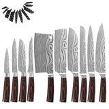 Japanese Kitchen Knife Set Laser Damascus Pattern Stainless Steel Knife Set Kitchen Tools - OZ Discount Store