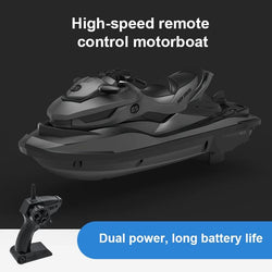 2.4G RC Boat Mini Electric Speedboat LED Motor USB Water Remote Control
