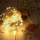 Copper Wire LED String Lights Christmas Decorations