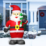 1.8m LED Inflatable Santa Claus Snowman Christmas Doll Outdoor Garden Toys