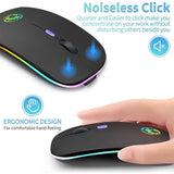 Wireless Bluetooth RGB Rechargeable Wireless Ergonomic Gaming Mouse