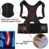 Adjustable Magnetic Posture Corrector Corset Back Brace Back Belt Lumbar Support Straight Corrector for Men Women L