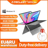Teclast F6 Plus Laptop 13.3 Inch 8GB RAM 256GB ROM 360 Degree Rotation