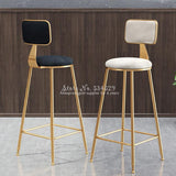 Nordic Bar Stool Wrought Iron