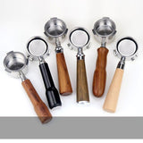 Wood Handle Stainless Steel Espresso Portafilter 51mm for Coffee Naked Bottomless Portafilter