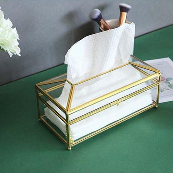 Nordic Creative Glass Tissue Box - OZ Discount Store