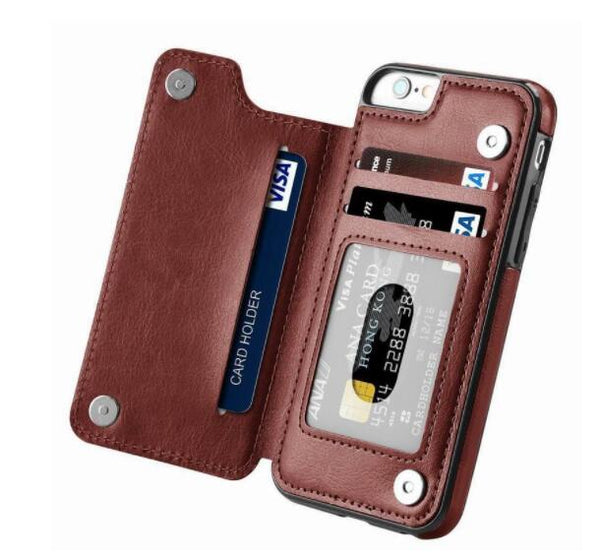 Luxury Flip Leather Wallet Case For iPhone series
