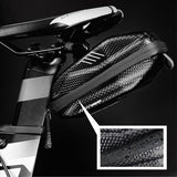NEWBOLER 1.5L Hard shell Bicycle Saddle Bag Waterproof Cycling Panniers MTB Bike Rear Tool Bag Night Reflective Bike Accessories