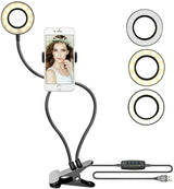 Photo Studio Selfie LED Ring Light with Cell Phone Mobile Holder for Youtube Live Stream Makeup,Ring Lamp for iPhone/Android