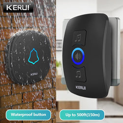 Home Security Wireless Doorbell Smart Chimes Doorbell Alarm LED