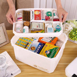 Multifunctonal Storage Box First Aid Kit Organizer with Handle Portable Kits