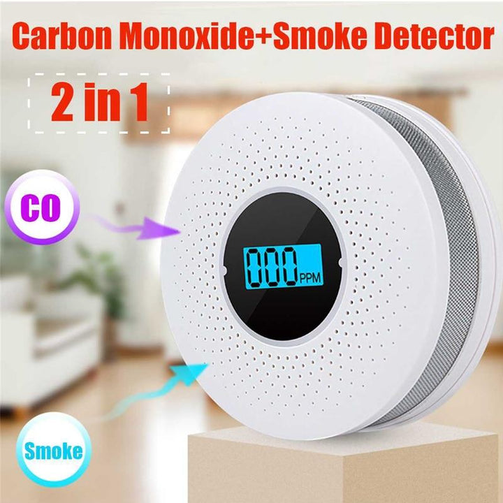 Newest 2 in 1 LED Digital Gas Smoke Alarm - OZ Discount Store