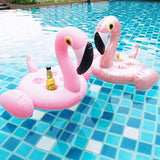 Ice Bucket Flamingo Cup Holder Inflatable Pool Float Cooler Table Drink Food Tray Party Toys Boia Piscina Swimming Mattress