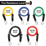 Power Guidance 16 PCS Resistance bands Set Fitness Latex Tubes Rubber Loop Band