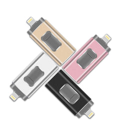 USB Pendrive iPhone Flash Drive 3-in-1 Lightning OTG 128GB Usb Flash Drive USB 3.0 Memory Stick Compatible Apple iPad PC