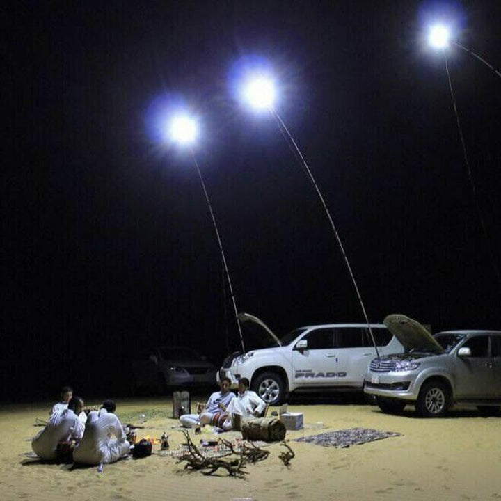 224pcs LEDs COB 12V LED Telescopic Fishing Rod Outdoor Lantern Camping Light for Road Trip or mobile street light