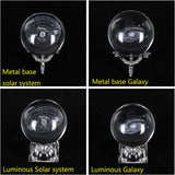 6cm 3D Engraved Galaxy Solar System Crystal Lamp