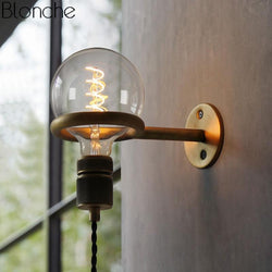 Nordic Vintage Punk Ring Wall Lamp Led Sconce Mirror Light Fixture