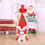 Santa Claus Wine Bottle Dust Cover Xmas Decorations