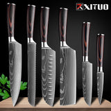 Japanese Damascus Patterned Chef Knife