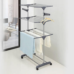 Clothes Hanger Coat Rack Floor Hanger Storage Wardrobe Clothing Drying Rack