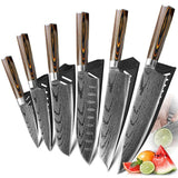 Japanese 440C High Carbon Stainless Steel Damascus Sanding Laser Knife