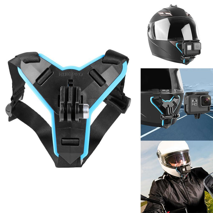 New Motorcycle Helmet Chin Stand Mount Holder for GoPro Hero 8 7 6 5 4 3 Xiaomi Yi Action Sports Camera Full Face Holder (As shown)