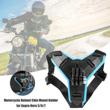 New Motorcycle Helmet Chin Stand Mount Holder for GoPro Hero 8 7 6 5 4 3 Xiaomi Yi Action Sports Camera Full Face Holder